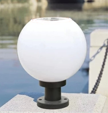 bright solar wall light column head outdoor street lamp spherical wall light led garden light water-resistant 220v also can use(China (Mainland))