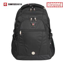 Swisswin Business Backpack Male 15 inch Computer Bag Mochila masculino Orthopedic Back Pack Travel Nylon Black - SWISSWIN OFFICIAL FLAGSHIP STORE store
