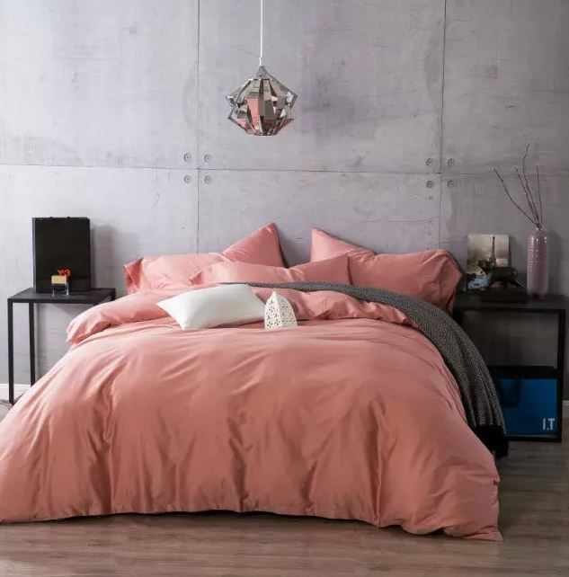 Luxury 100% Egyptian cotton bedding sets bed sheets linen bedspreads Pink king queen size double full quilt duvet cover bedsheet(China (Mainland))