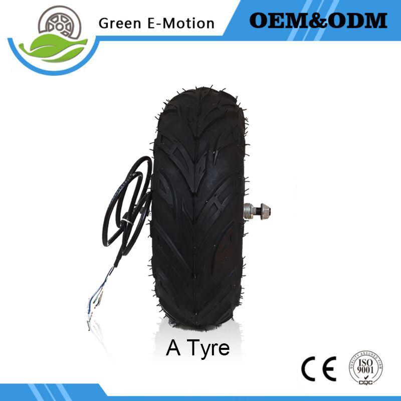 14.5' electric wheel motor brushless gearless dc hub 24V36V48V 350W500W bike golf carts wheelbarrow - Green E-motion Store store