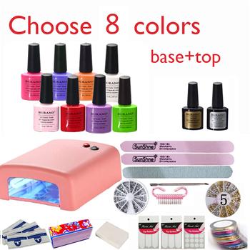 New Arrival Hot Sale Perfect Summer Soak-off Gel polish gel nail kit nail art tools sets kits manicure set choose 8 colors