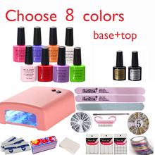 New Arrival Hot Sale Perfect Summer Soak-off Gel polish gel nail kit nail art tools sets kits manicure set choose 8 colors(China (Mainland))
