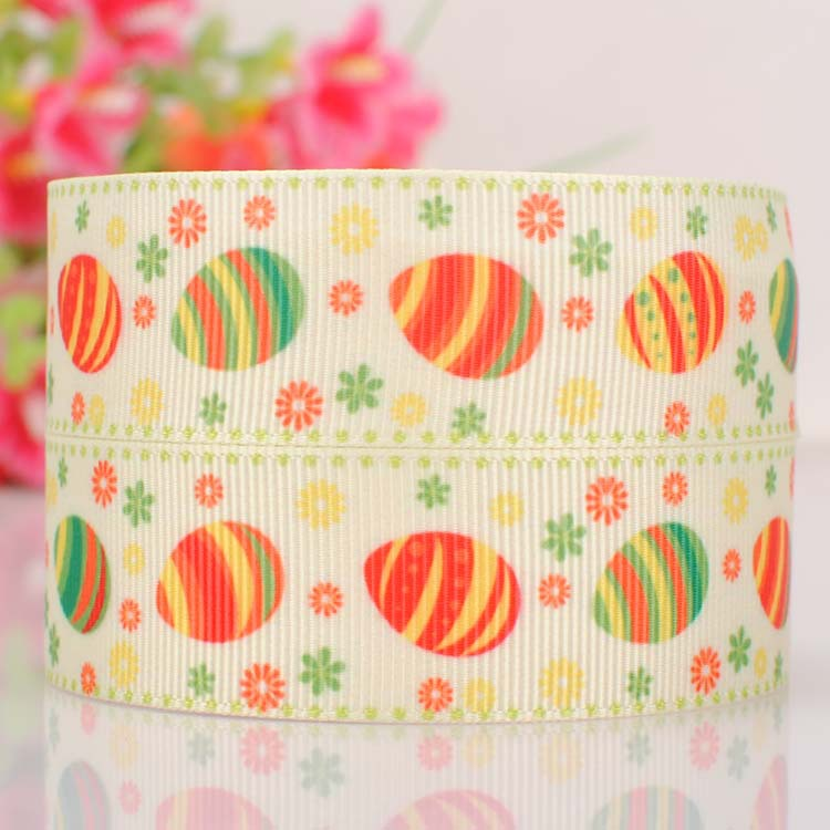 """10yards 7/8"""" (22mm)Lovely colored painted Easter eggshells gift ribbon,Happy Easter eggs ribbon(China (Mainland))"""