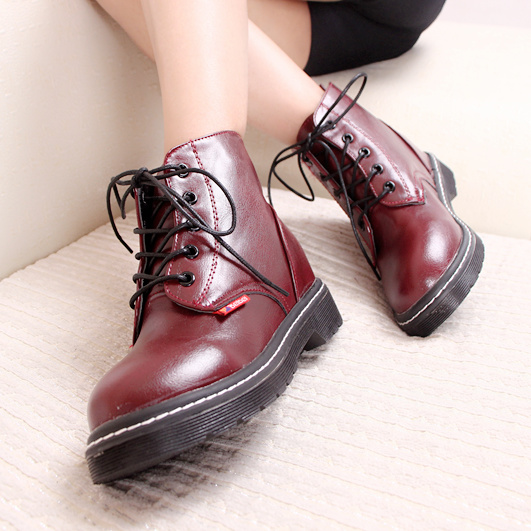 Boots Martin boots female British style flat retro Korean students single shoes