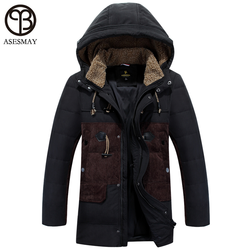 Asesmay 2016 brand clothing winter jacket men thick down coats men parka jacket men wellensteyn jacket winter thick bonnet coats(China (Mainland))