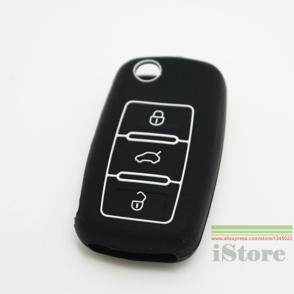 Luminous Car key cover case for Volkswagen VW Golf 4 5 6 Polo Passat B5 Jetta