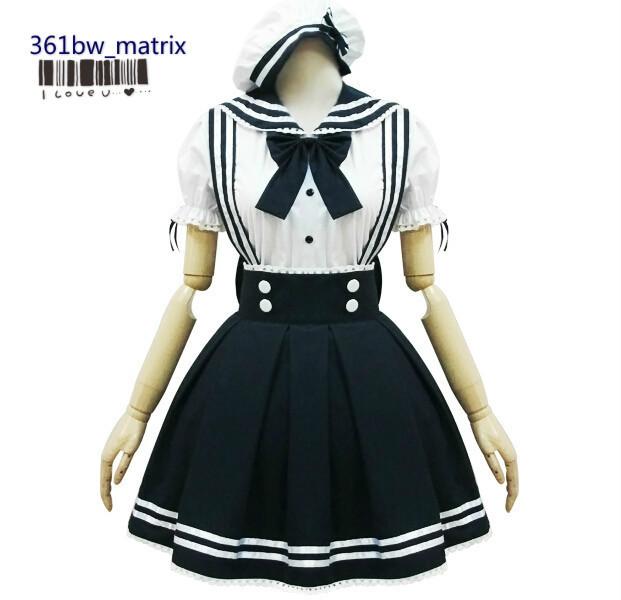 Wholesale Custom Japan School Girls Sexy Lolita Kawaii Sailor Uniform Dress Halloween Christmas Fancy Costume New Free Shipping