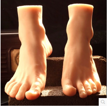 Free Shipping!! Top Level Fashionable New Style Silicone Male Mannequin Feet Display On Sale(China (Mainland))