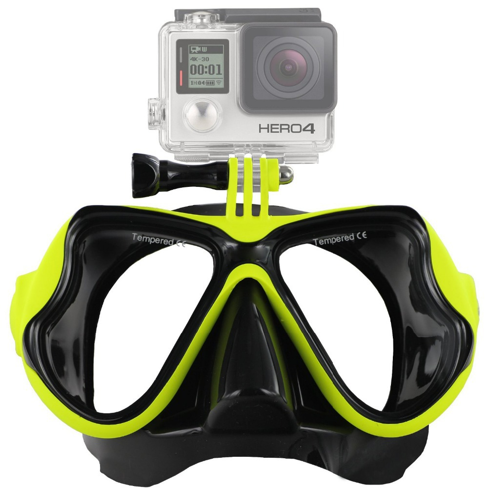 Diving mask For Gopro Hero 4 3+ 3 2 1 SJ4000 5000 6000 Xiaomi yi Action Camera Accessories