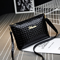 New 2016 Black plaid clutch Fashion Women CrossBody Bag Purse shoulder Bags Crocodile Simple Small handbag