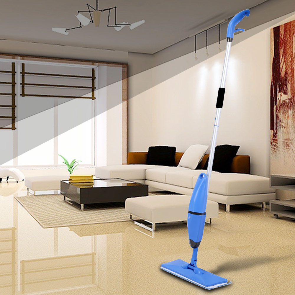 2 in 1 Household Spray and Scrubbing Mop Microfiber Magic Flat Mop Floor Sweepers Swob 360 degree Universal Rotating Glass Mops(China (Mainland))