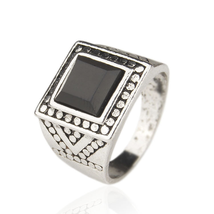 Men Jewelry 925 Sterling Silver Black Mens Rings 2015 Latest Design Size Free Shipping(China (Mainland))