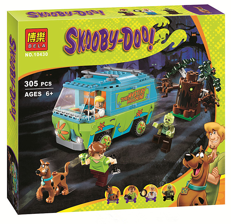 Bela 10430 Scooby Doo Mystery Machine Bus Minifigures Building Block Minifigure Toys Compatible With Legoe P029