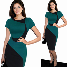 New Arrivals Ladies Summer Dresses 2016 European Fashion Style Plaid Short Sleeve Fitted Women Pencil Dress Women Casual Dresses(China (Mainland))