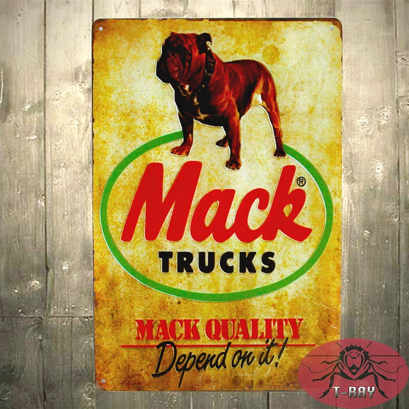 Vintage Home decor TIN SIGN Mack Trucks Metal Decor Wall Art Auto Shop Stop Store Garage(China (Mainland))
