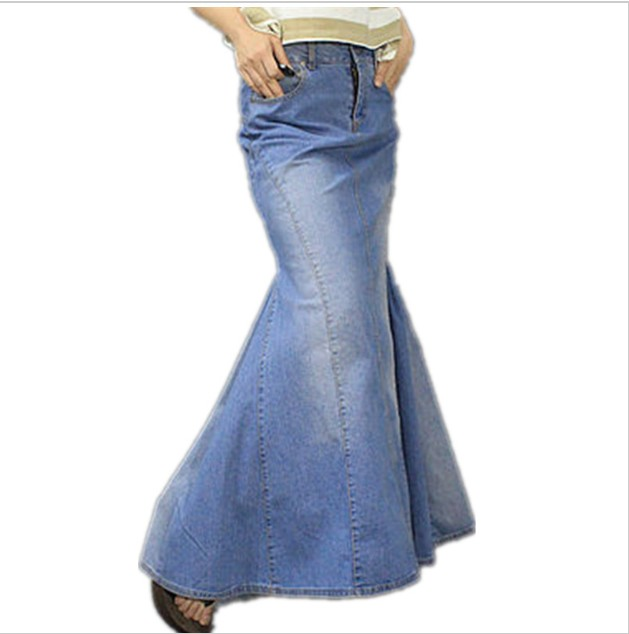 how to make maxi skirt from jeans
