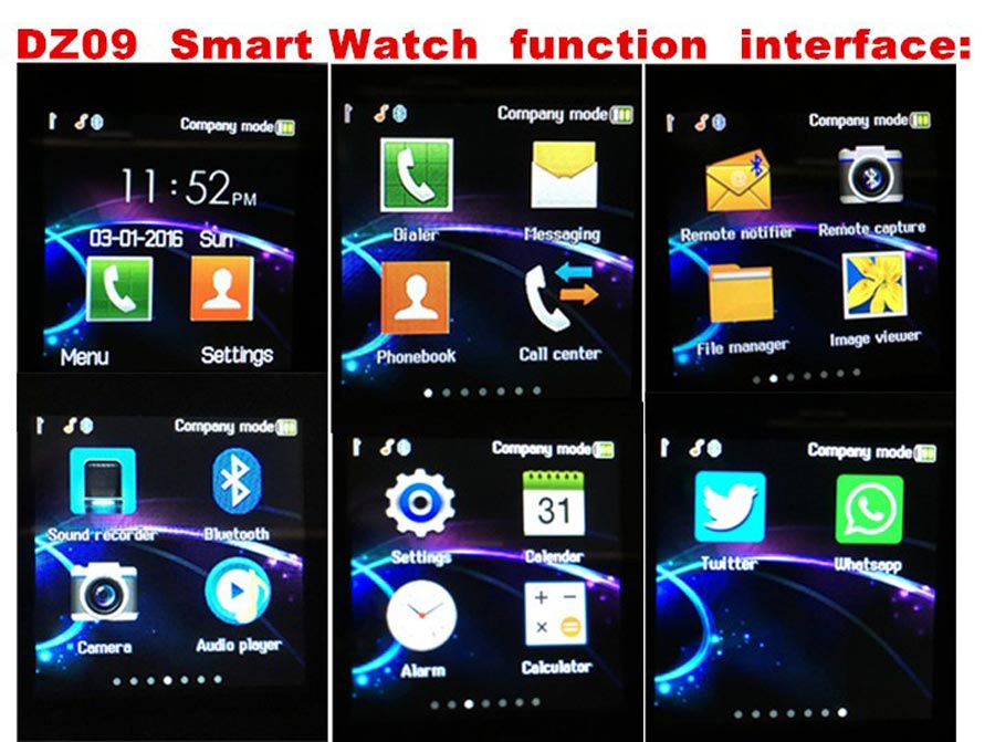 image for Smart Watches Adult Smart Watch Fashion Smart Watch Dz09 All Compatibl