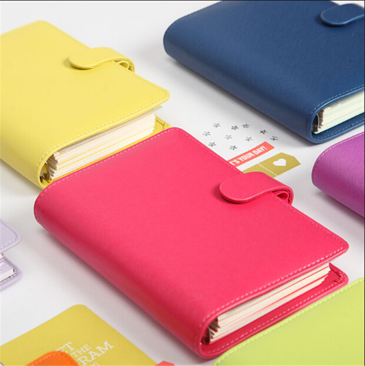 2016-2017 New Dokibook Notebook Candy Color Cover A5 A6 Loose-Leaf Time Planner Organizer Series Personal Diary Daily Memos  -  NOTEBOOKS store