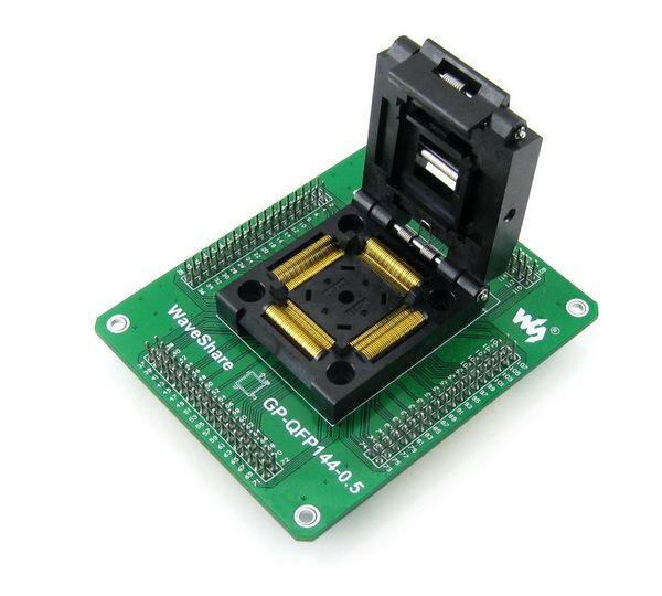 QFP144 TQFP144 LQFP144 Adapter Yamaichi IC51-1444-1354-7 IC Test Socket Programming Adapter 0.5mm Pitch<br><br>Aliexpress