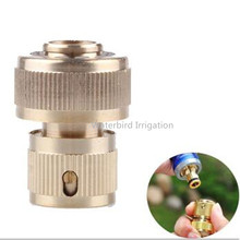 3/4inch Brass Quick Coupling Connector With Waterstop Tap Connector For Garden Irrigation X134(China (Mainland))