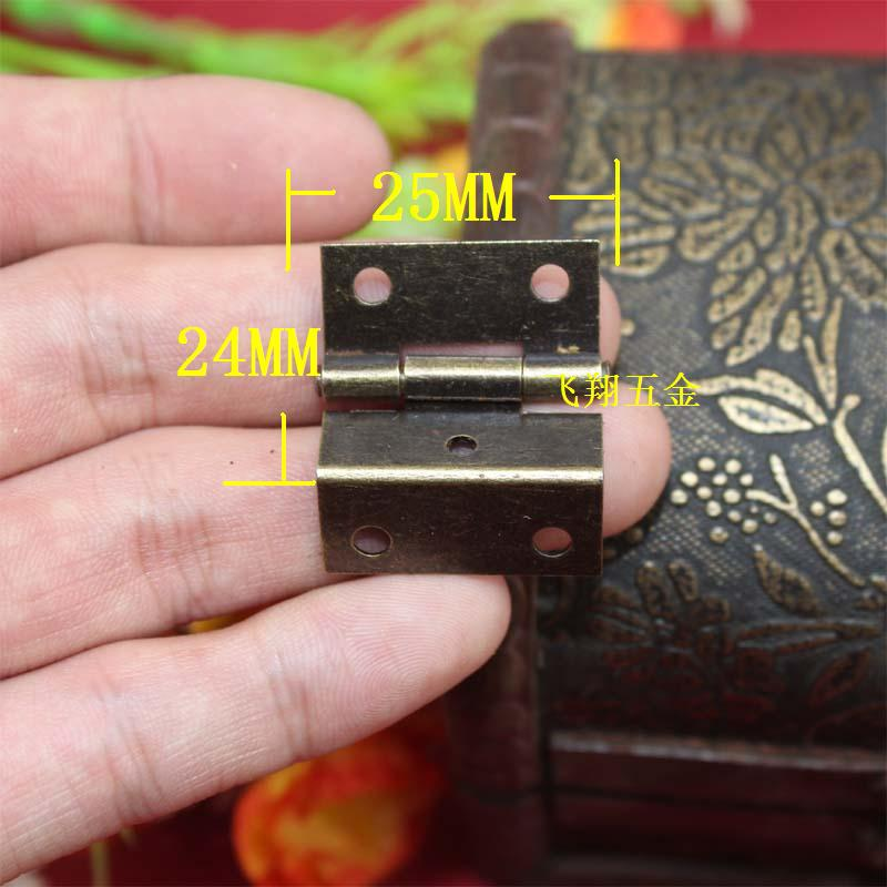 25*24mm Packaging Hardware Small hinge Three equivalent page 1 inch Small hinge 5 hole Right Angle Hinge(China (Mainland))