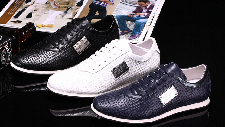 2015 New Top Brand Name Men Sneakers Leather Stylish Posh Tenis Masculino Lace-up Flat Sport Shoes high quality Men Zapatillas(China (Mainland))