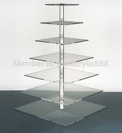 7 Tier Round /cooking tools/ Beautiful Acrylic Cupcake Stand acrylic Wedding Party cupcake stand(China (Mainland))