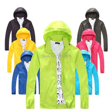 2015 New Outdoor Sport Skin Jacket Windbreaker Waterproof Sun & UV protection Movement Coat Lightweight Quick-dry Hiking Jackets(China (Mainland))