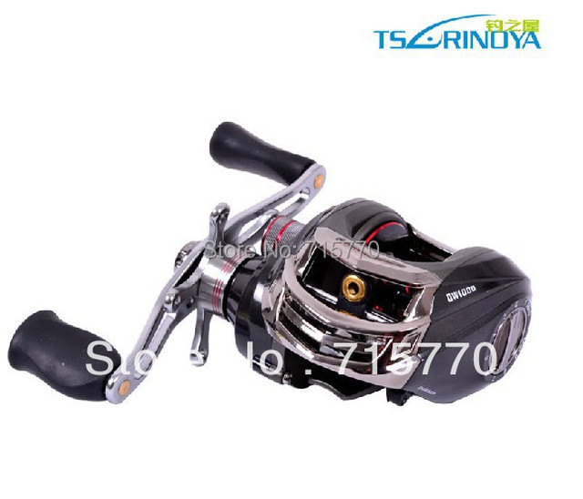 Trulinoya DW1000 Right Hand Baitcasting Fishing Reel  10+1BB  Black Color