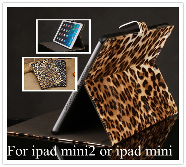 Brand Designer Fashion Leopard Print PU Leather Magnetic Case Mini iPad Stand Function Smart Cover 2 - Nordson Digital store