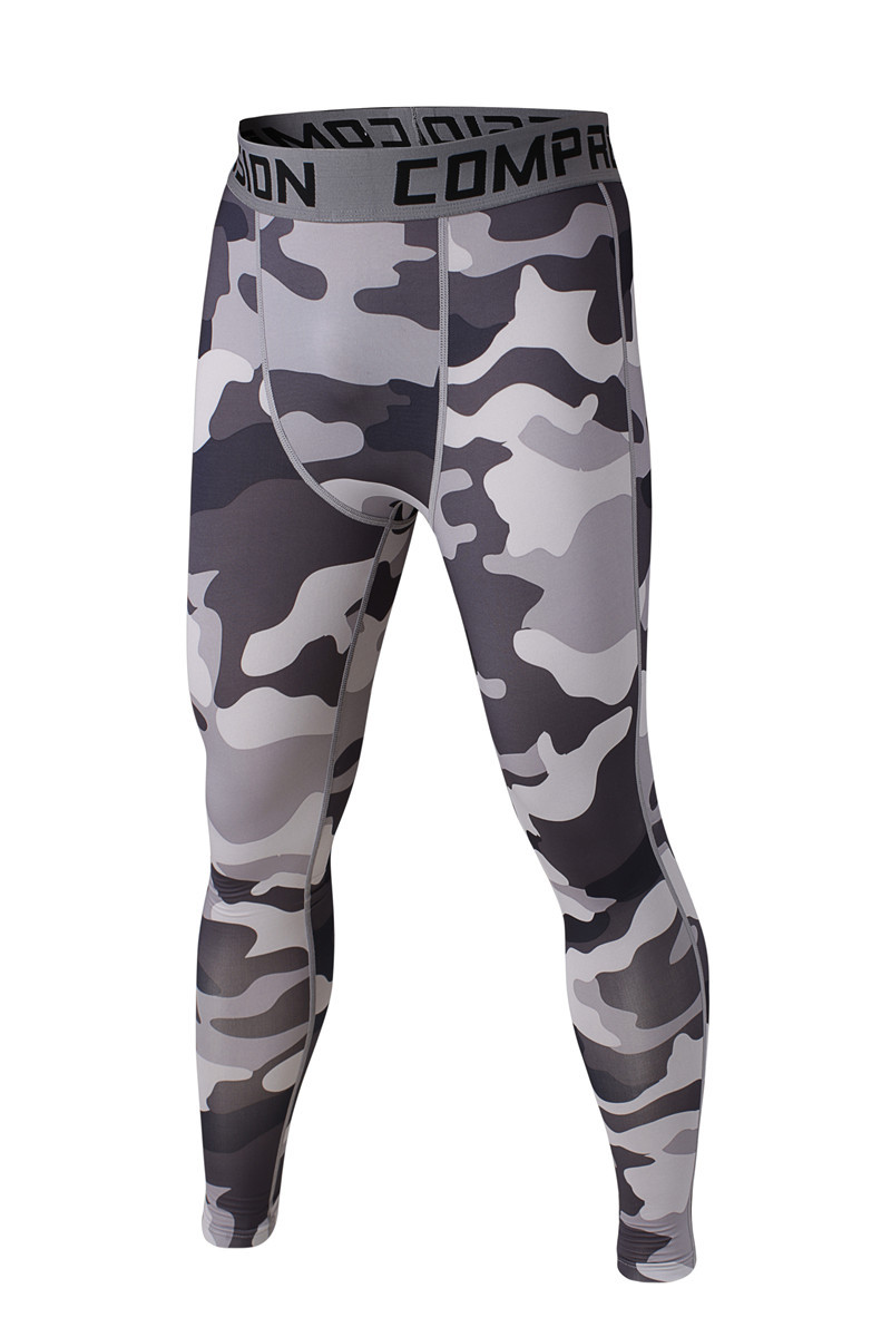 2015 fashion sport men underwear camouflage compression pants tights Basketball Running camo Base Layer fitness jogging Trousers(China (Mainland))