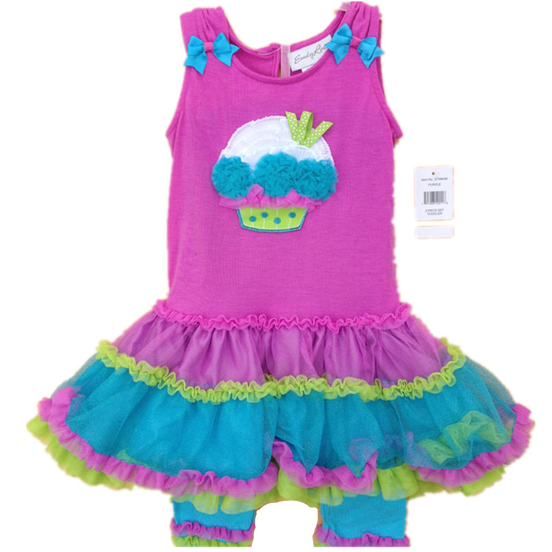 Original Brand, 6Sets/lot 2-8yrs Rare Editions Rose Color 3D Cake Stiched Vest Cute TuTu Dress and Leggings Summer Outfit<br><br>Aliexpress