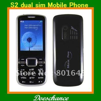 S2 2.4'' TFT screen Dual sim flashlight camera loud speaker russian keyboard cell phone