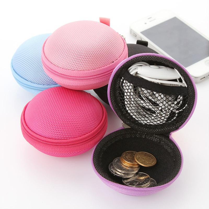 Portable headset storage bag, anti-pressure package earphone headset headphone bag box data cable package(China (Mainland))