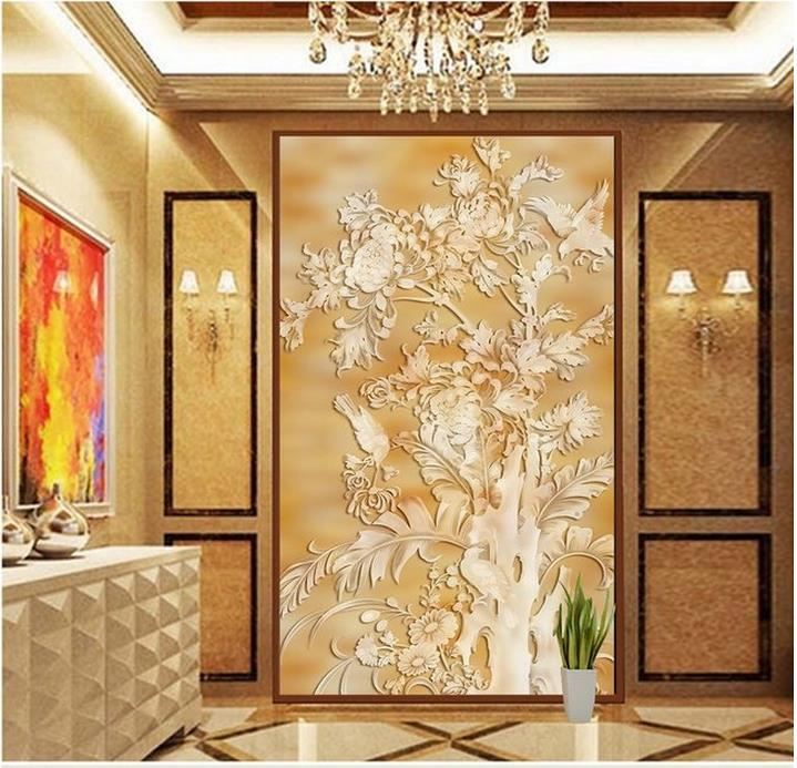 Modern wall 3d murals wallpaper 3d beautiful backdrop for 3d interior wall murals