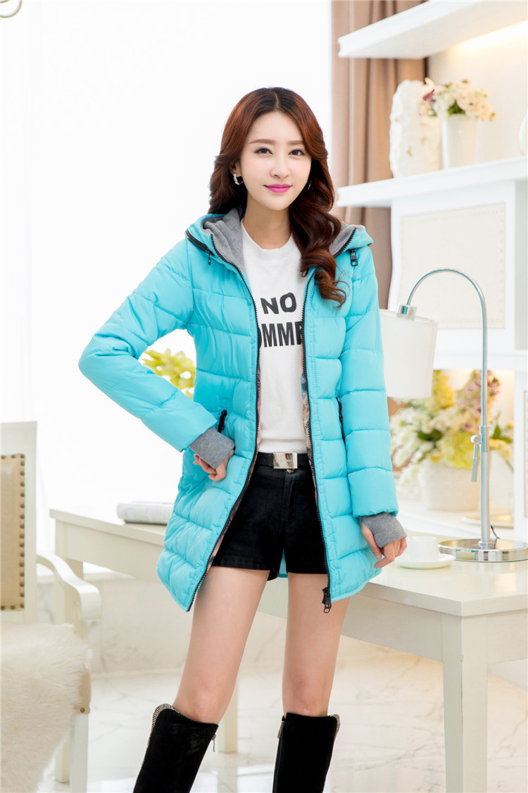 plus size women s autumn and winter Korean version of the irregular hem long sleeved hooded