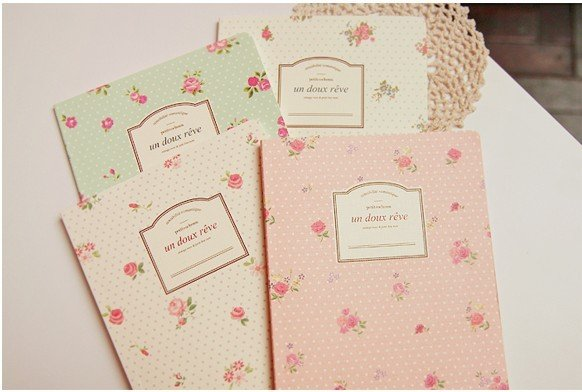 Freeshipping! NEW sweet  vintage rose Notebook / Diary / fashion Gift / notepads / A5 book / Wholesale<br><br>Aliexpress