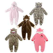 Baby girl boy clothes High quality Fake fur Princess Pink Winter Soft Cotton-Padded Infant Newborn plush Jumpsuit baby romper(China (Mainland))