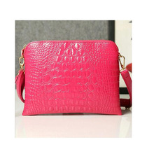 Good Quality Retro crocodile grain shell package Handbag Shape Candy Color Handbags Women Messenger Bags