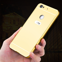 Buy Luxury Plating Aluminum Frame+Acrylic PC Mirror Phone Case Letv Le 1s 2 Pro Max Max2 PC Back Cover for $3.99 in AliExpress store