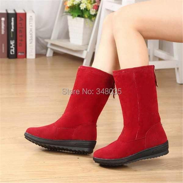 Fashion Women Snow Boots Faux Fur Casual Comfort Work Wear Ladies Winter Shoes se price - Tea lover store