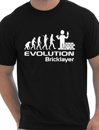 Evolution Of Bricklayer Funny Mens T-Shirt Gift More Size and Colors(China (Mainland))