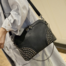 Women Rivet bag Handbags Fashion Messenger Bags small mini Women's Bag(China (Mainland))