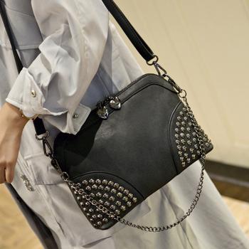 Women Rivet bag Handbags Fashion Messenger Bags small mini Women's Bag