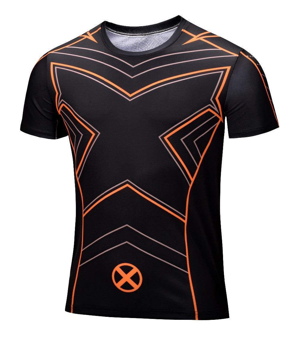 Гаджет  2015 Marvel Super Heroes Avengers Age of Ultron Captain America Batman Tights sport T shirt Men fitness clothing short sleeves None Одежда и аксессуары