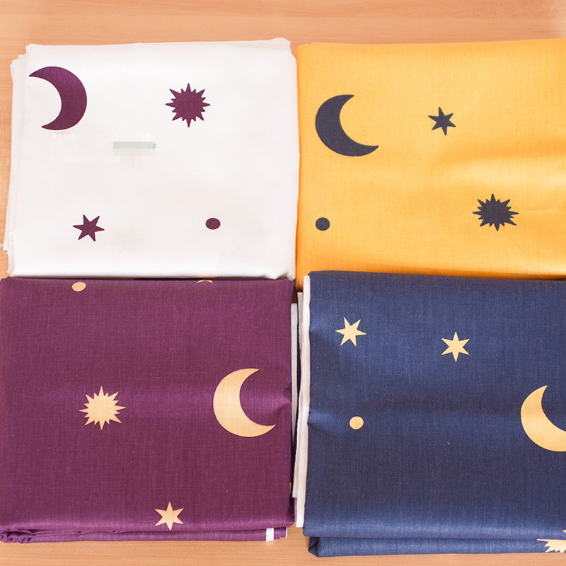 160cm 100% cotton fabric baby clothes pure cotton cloth material twill diy handmade fabric universe star moon printed fabric(China (Mainland))