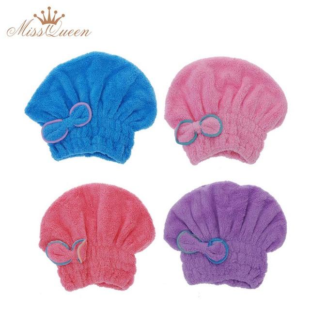 Домашний текстиль полезная сухих волос шляпу микрофибры волосы тюрбан быстро сухих ...