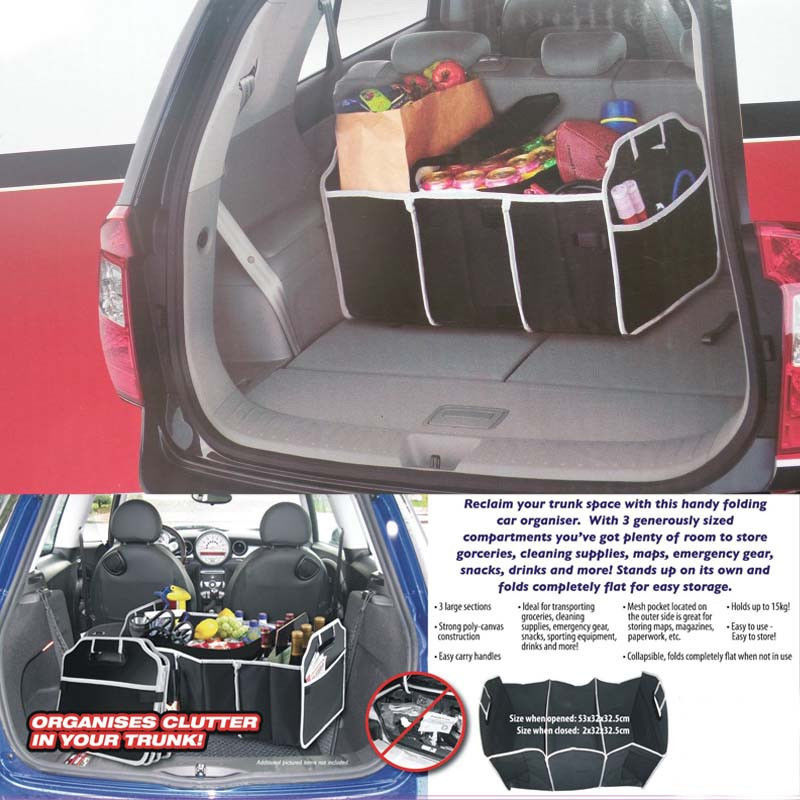 1pc Useful Foldable Car Organizer Boot Stuff Food Storage Bag trunk organiser Automobile Stowing Tidying Interior Accessories(China (Mainland))