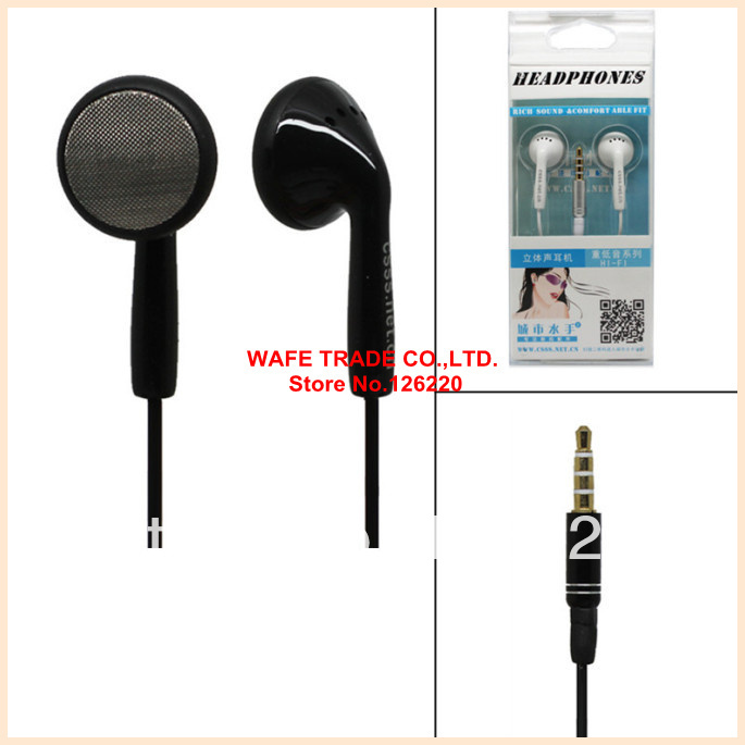 Authentic city sailor crystal box packing with wheat round wire mobile computer MP3 / MP4 earplugs in-ear headphones(China (Mainland))