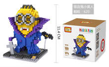 LOZ Diamond Block Vampire Pirate Minions Model & Building Toys Action Figure 5 styles The Avengers Bricks Compatible with Lego(China (Mainland))